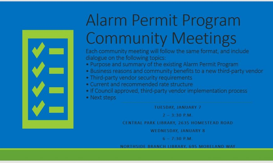 Changes Proposed To Residential And Business Alarm Permit Program