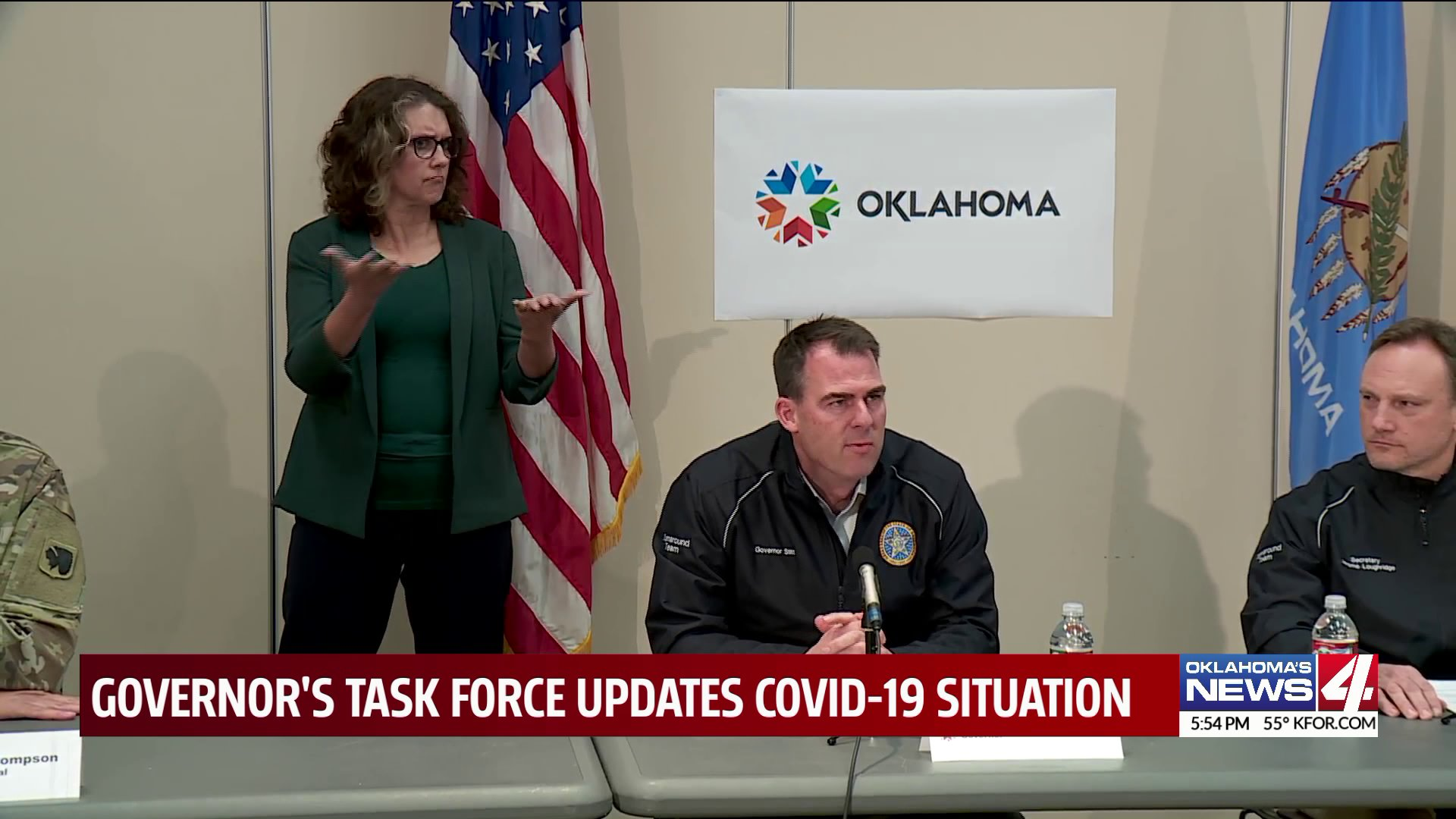 Governor Kevin Stitt gives update to Oklahoma's COVID-19 situation