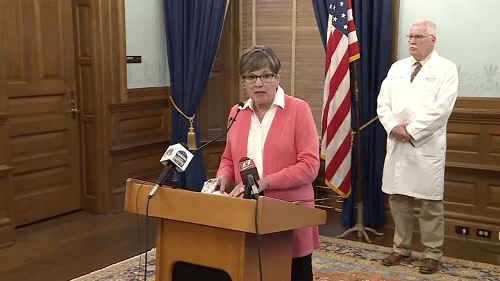 KS Gov. Laura Kelly recommends local communities move to Phase 3 of Ad Astra reopening plan