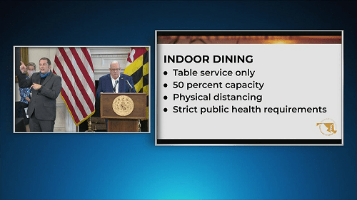 Reopening Maryland: Indoor Dining Will Be Allowed Friday As More Coronavirus Restrictions Lifted