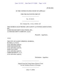 U.S. Court of Appeals upholds Sandy Springs' alarm ordinance in lawsuit