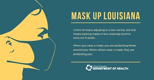 Mask up Louisiana, it's mandatory