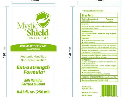 Voluntary recall issued for alcohol-based Mystic Shield hand sanitizer in Louisiana & Texas