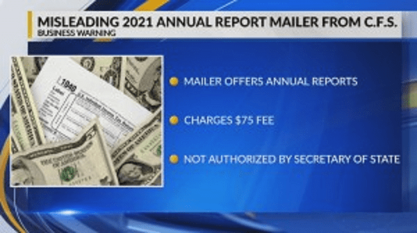 Mississippi Secretary of State warns business owners of fraudulent mailer