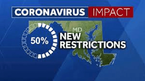 Maryland enacts stricter coronavirus restrictions Friday