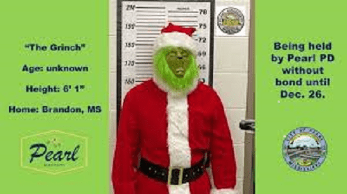 Grinch locked up, Christmas saved by Pearl police