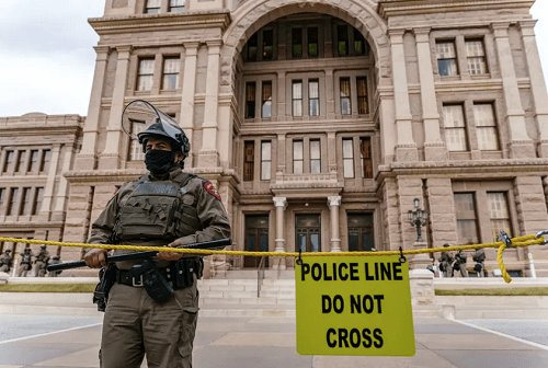 Texas Legislative Session Begins With Heavy Security Presence Following U.S. Capitol Riot