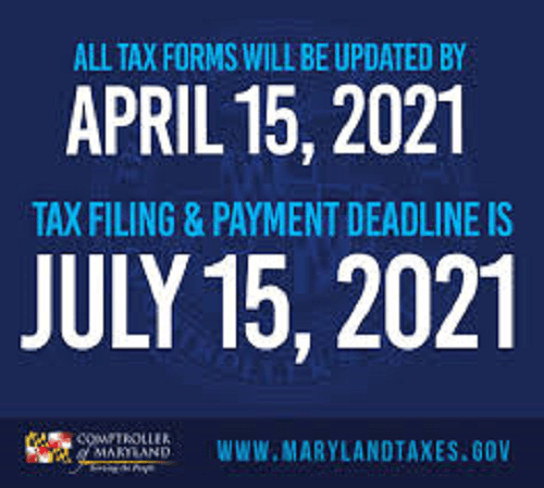 MD Taxes Due July 15