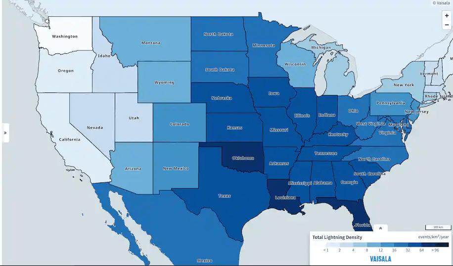 New analysis shows Oklahoma may have overtaken Florida as nation's lightning capital
