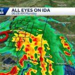 Ida moves into Mississippi bringing threat of heavy rain, damaging winds