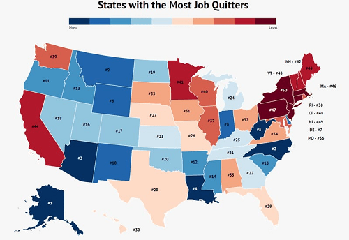 How Louisiana compares with other states in workers quitting their jobs